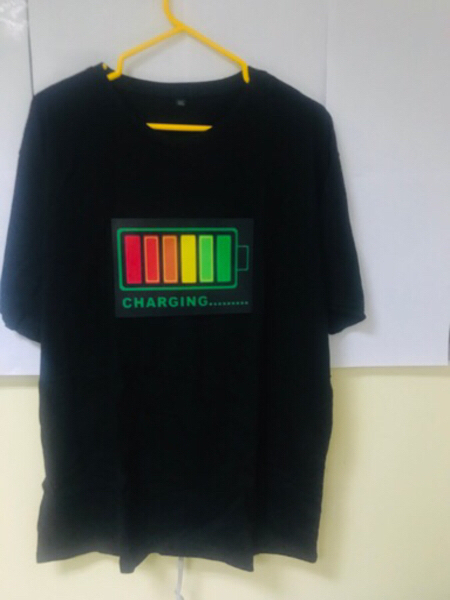 Used LED lightsvoice-activatedT-Shirt(New)3XL in Dubai, UAE
