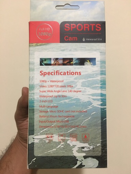 Used Full HD Sports action underwater camera in Dubai, UAE