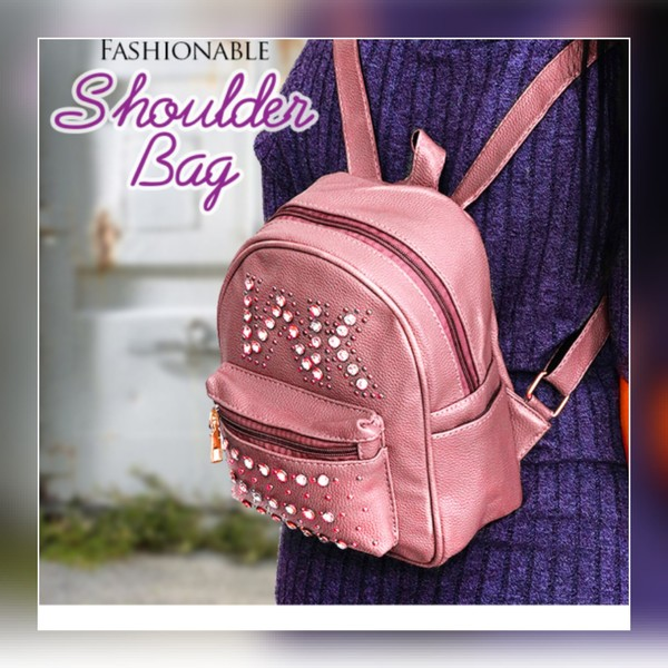 Used Fashionable cute small pink back pack in Dubai, UAE