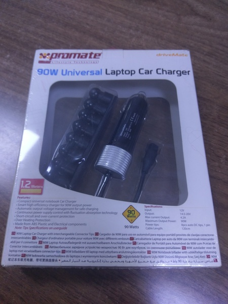 Used Universal Laptop car charger new in Dubai, UAE