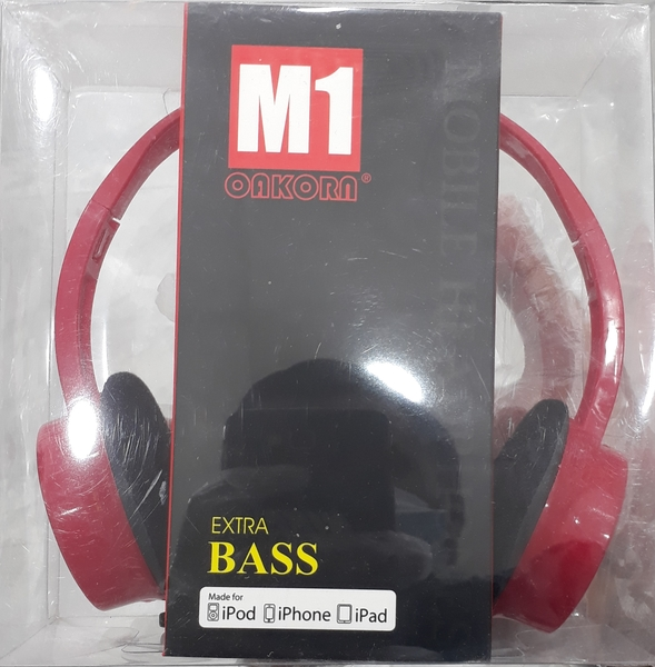 Used Over Ear Wired Headset- no mic - Red in Dubai, UAE