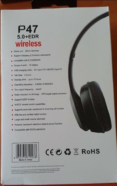 Used P47 new Bluetooth headset.. in Dubai, UAE