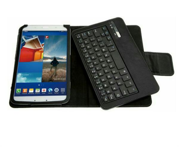 Used Wireless Bluetooth Keyboard Case For Galaxy Tab3 8.0 inch Tablet  With wireless operation. in Dubai, UAE