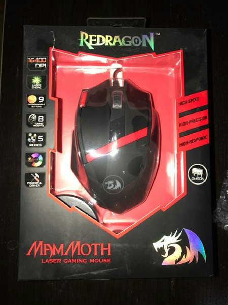 Used 2pcs Red dragon laser gaming mouse in Dubai, UAE