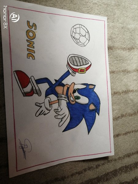 Used Sonic The Hedgehog Drawing in Dubai, UAE