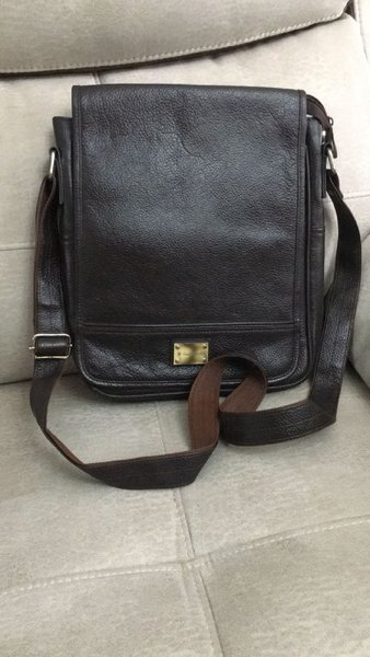 Used Leather messenger bag in Dubai, UAE