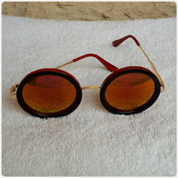 Used Summer sungglass fashion red brown new in Dubai, UAE