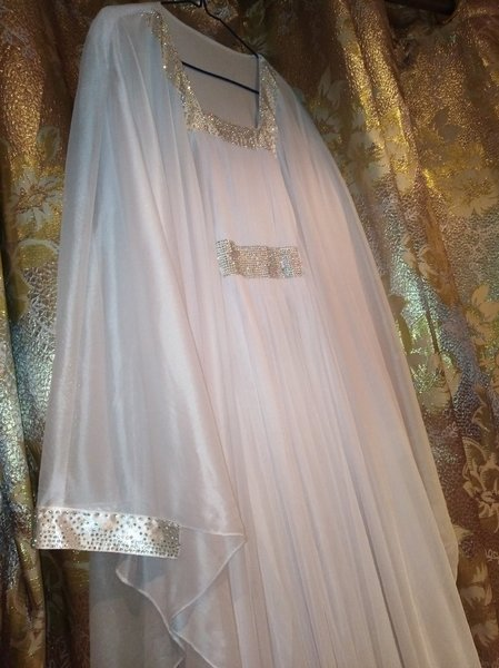 Used Fancy delicate white abahya in Dubai, UAE