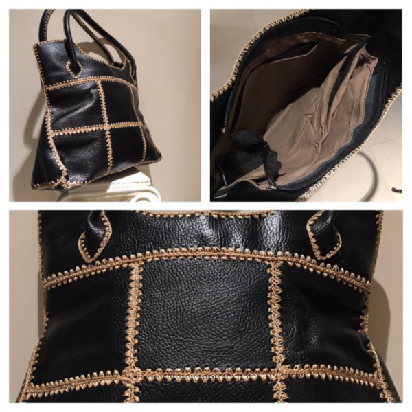 Used Leather bag black in Dubai, UAE
