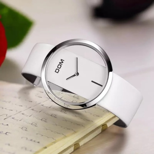 Used women watch with white leather in Dubai, UAE