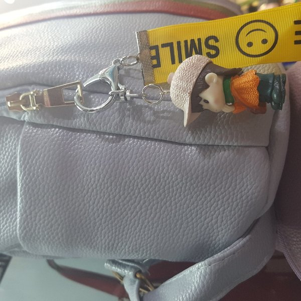 Used Trendy Leather Back pack with free gift in Dubai, UAE