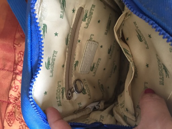 Used Lacoste Sling Bag Small Authentic in Dubai, UAE