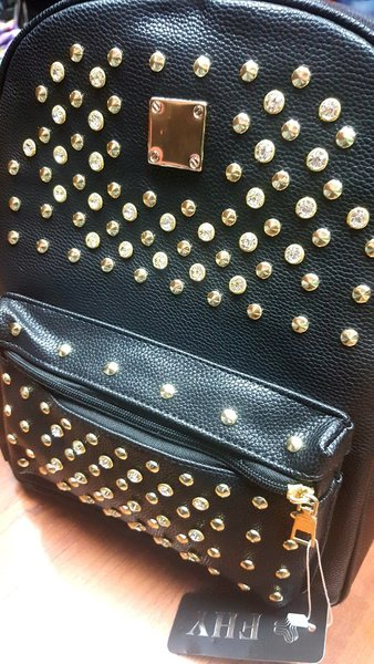 Used Trendy Leather Studded Backpack in Dubai, UAE