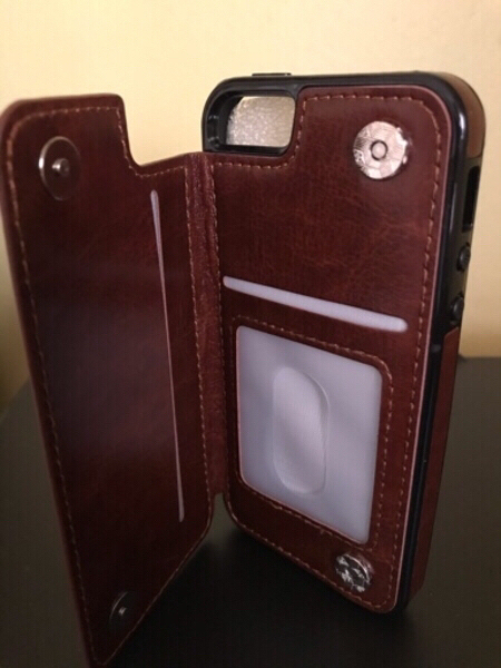 Used Iphone 5s/se case with pocket- Brown in Dubai, UAE