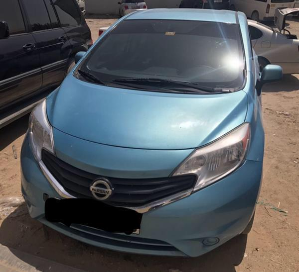 Used Nissan Versa Note Blue Color Black Interior In Excellent Condition Contact :050 704 5995 in Dubai, UAE