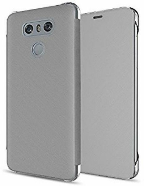 Quick ClearView Cover for LG G6-Silver