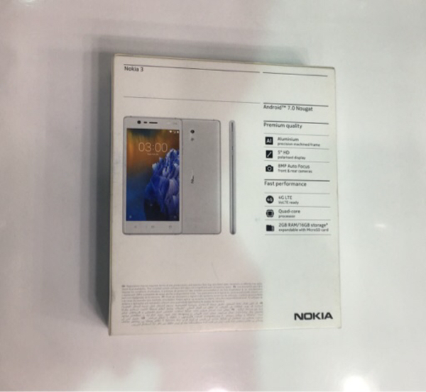 Nokia 3 copper white color sealed pack .