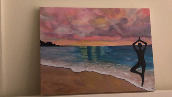 Used Acrylic on Canvas (made by me) in Dubai, UAE
