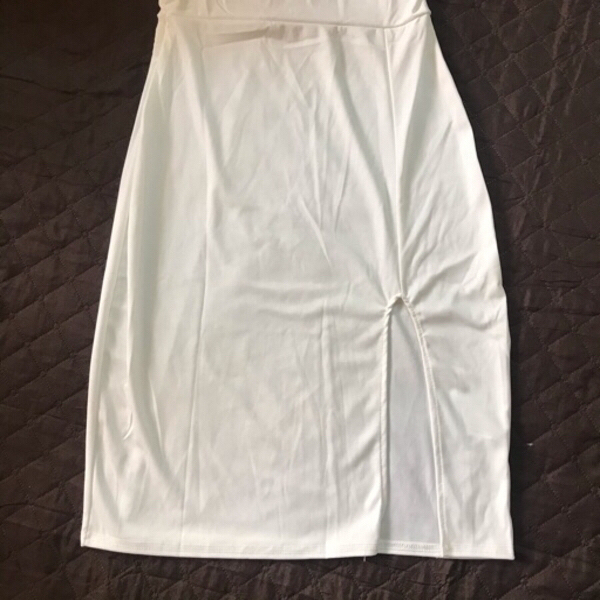 Used New white dress 👗 size small in Dubai, UAE