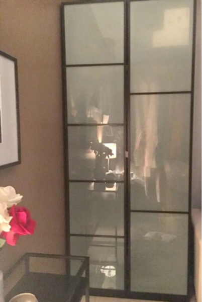 Used Ikea glass cabinet in Dubai, UAE