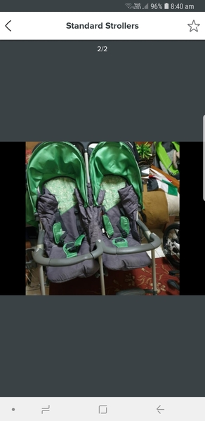 Used Baby twin stroller and baby swing in Dubai, UAE