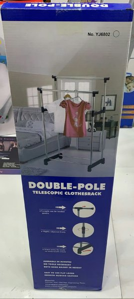 Used Double pole hanger for clothes in Dubai, UAE