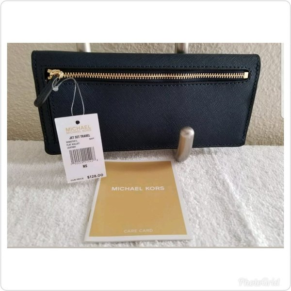 Authentic mk leather wallet