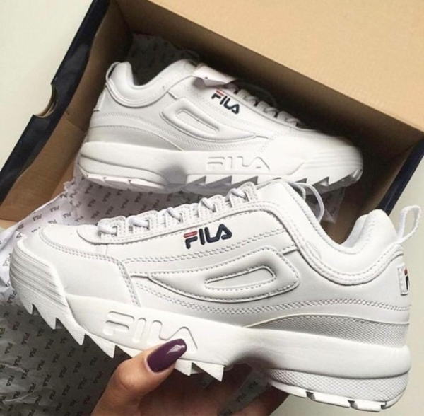 Used FILA LADIES SHOES white 36 to 40 size in Dubai, UAE