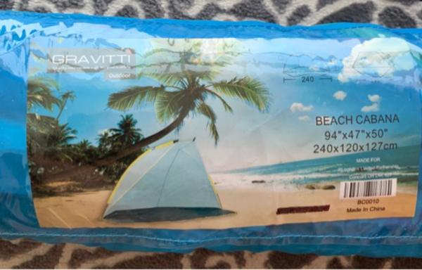 Used Beach tent in Dubai, UAE