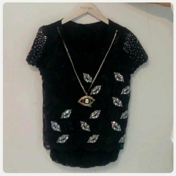 Used Top black color with chain in Dubai, UAE