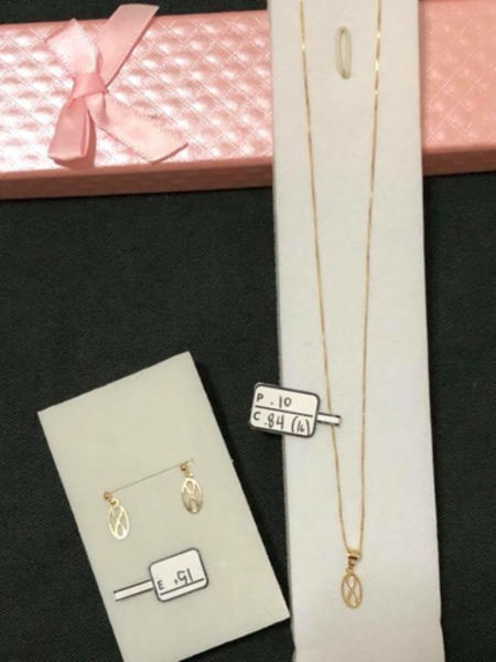 Used Set necklace and earrings with 1.45grams in Dubai, UAE