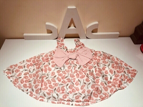 Used Patpat Chic flower solid Dress 6-9 M in Dubai, UAE