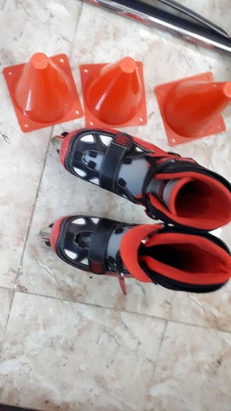 Used Slightly used skate roller for boys 36 in Dubai, UAE