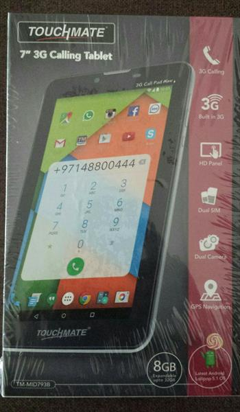 Used Org 3G 7inch  Touchmate TAB Company Packing in Dubai, UAE
