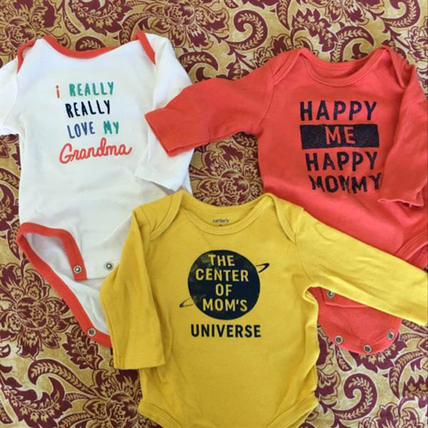 Used Baby Onesies Carter's Brand 0-3 Months Size  in Dubai, UAE