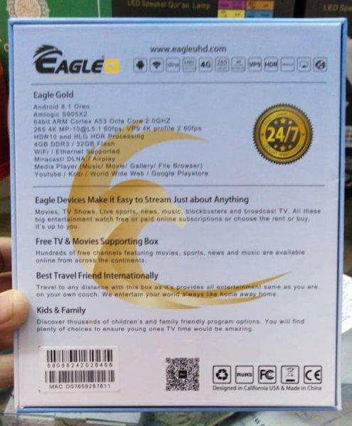 Eagle Android Tv Box With 1yr Sbcription