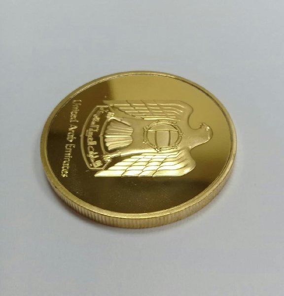 Used 1 coin (golden plated) in Dubai, UAE