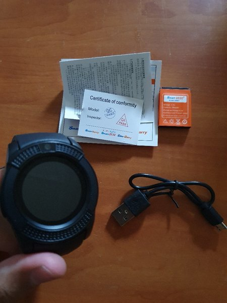 Used New smart watch black.- in Dubai, UAE