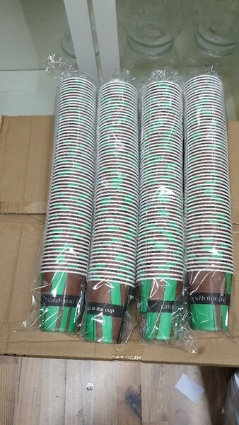 Used 4 packs of 6 oz disposable cup🧊🧊🧊 in Dubai, UAE