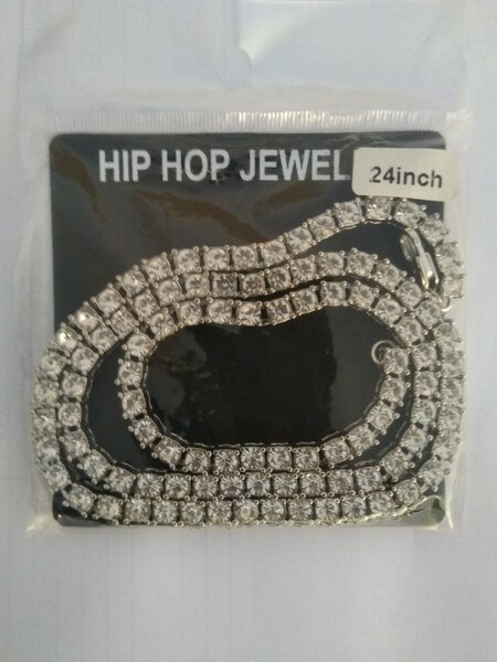Used Unisex Hip Hop Necklace silver in Dubai, UAE