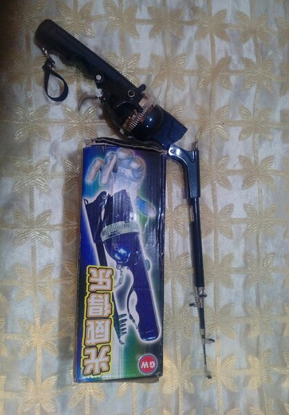 Used portable fishing rod and puffy bank toy in Dubai, UAE