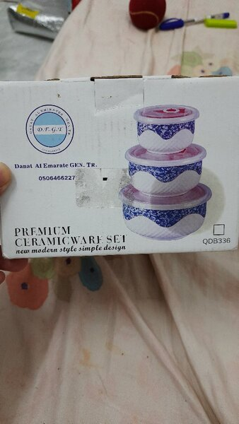 Used Premium Ceramicware Set of 3pcs with Lid in Dubai, UAE