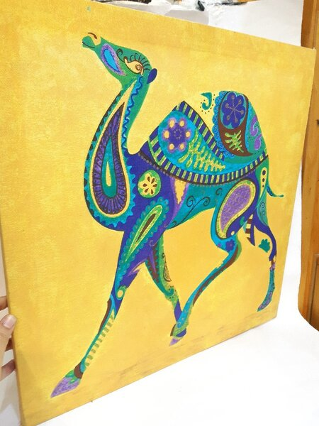 Used Lovely Camel 🐫 Wallhanging ❤ New ! in Dubai, UAE