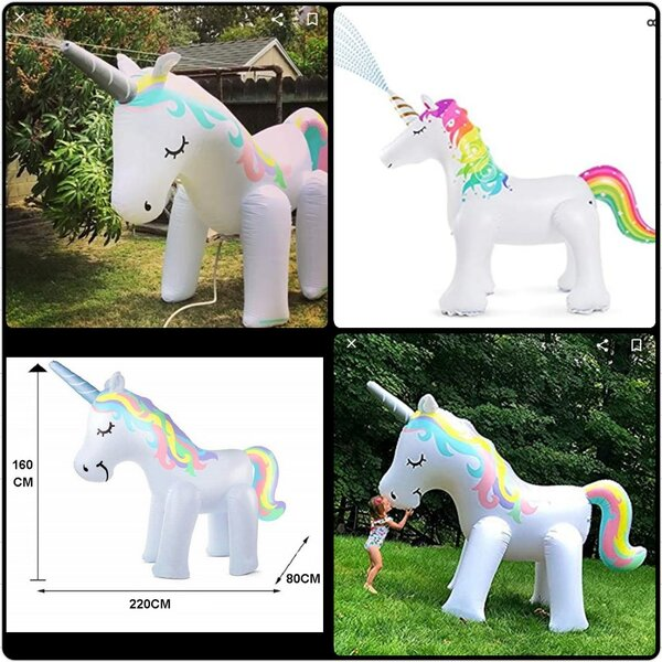 Used Inflatable water spray unicorn set. in Dubai, UAE