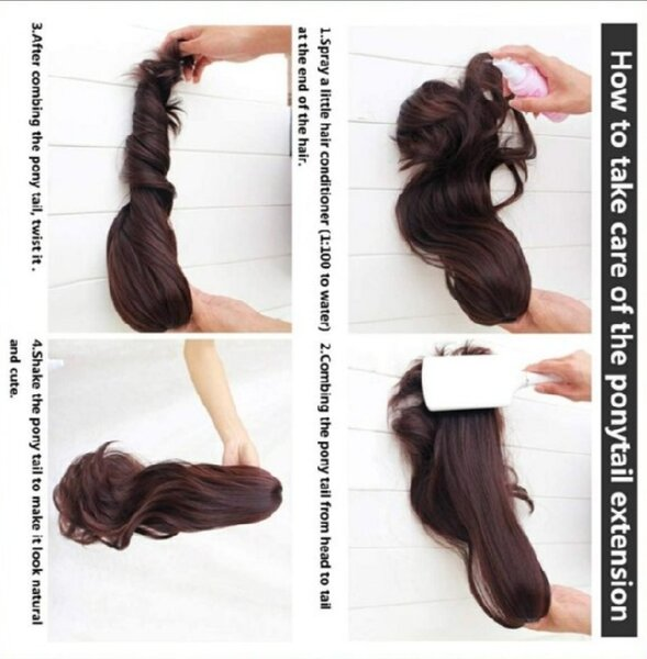 Used Clip on ponytail light brown hair. in Dubai, UAE