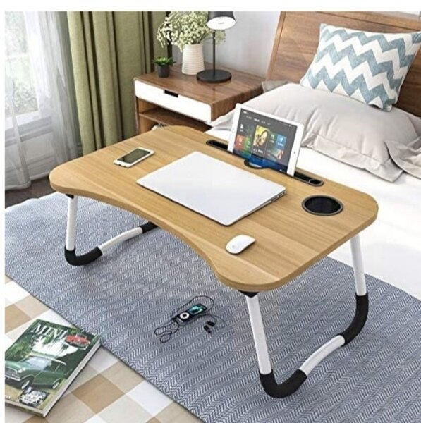 Used Folding Bed Laptop Table Tray Lap Desk in Dubai, UAE