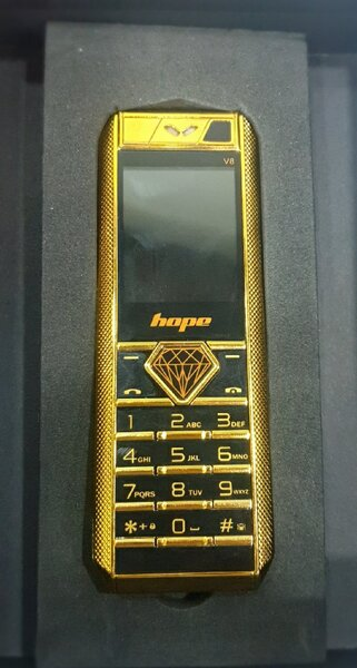 Used Luxary Gold plated mobile 📱laat piece in Dubai, UAE