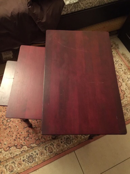 Used 3 Wooden Tables  in Dubai, UAE