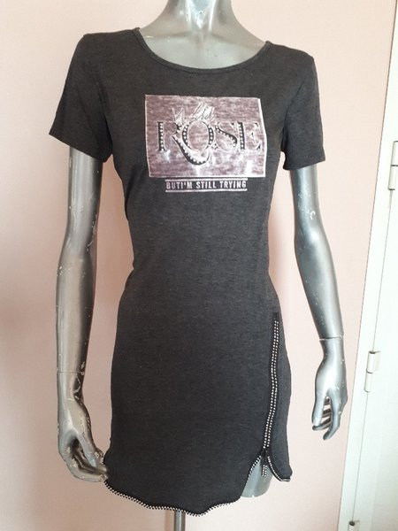 Used Short dress grey color with zipper in Dubai, UAE