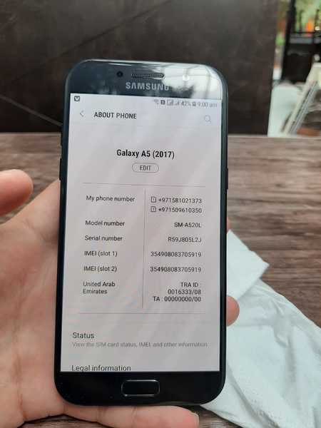 Used Samsung A5 (520s) in Dubai, UAE